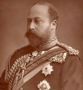 King Edward - unbuttoned suit button