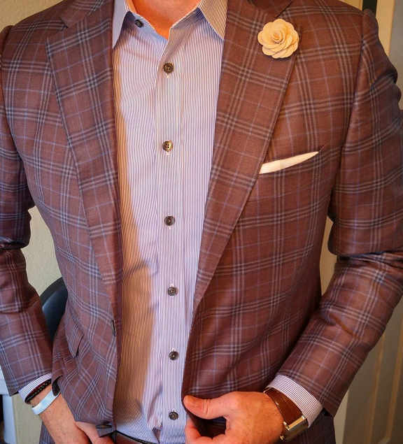 lapel flower on jacket - The Sharp Gentleman