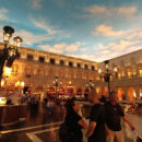 "The ""evening"" at the Venetian Piazza"